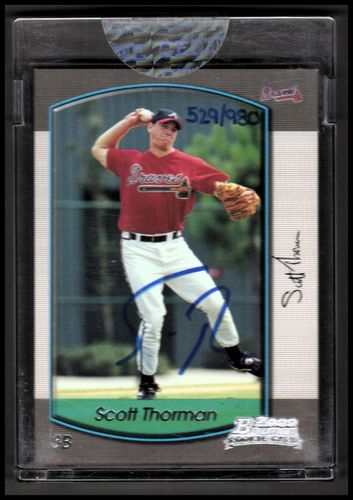 Photo of 2006 Bowman Originals Buyback Autographs #759 Scott Thorman 00 B/980 F