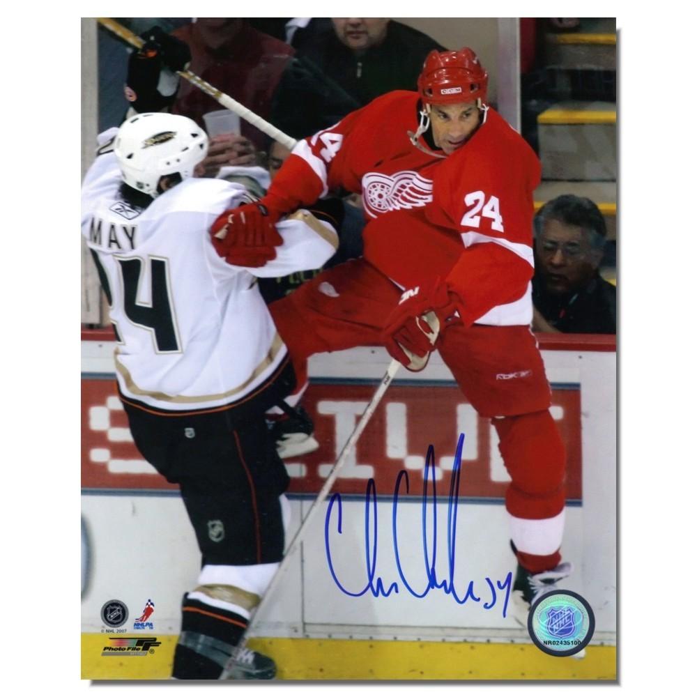 Chris Chelios Autographed Detroit Red Wings 8x10 Photo