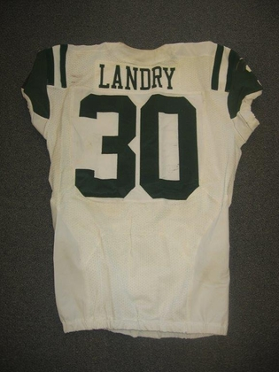 NFL Auction   Jets – LaRon Landry – Game Worn Nike Jersey vs. St ...