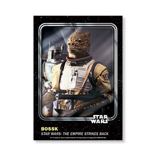 Bossk 2016 Star Wars Card Trader Base Poster - # to 99