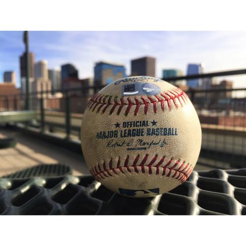 Photo of Colorado Rockies Nolan Arenado Game-Used Baseball - Double