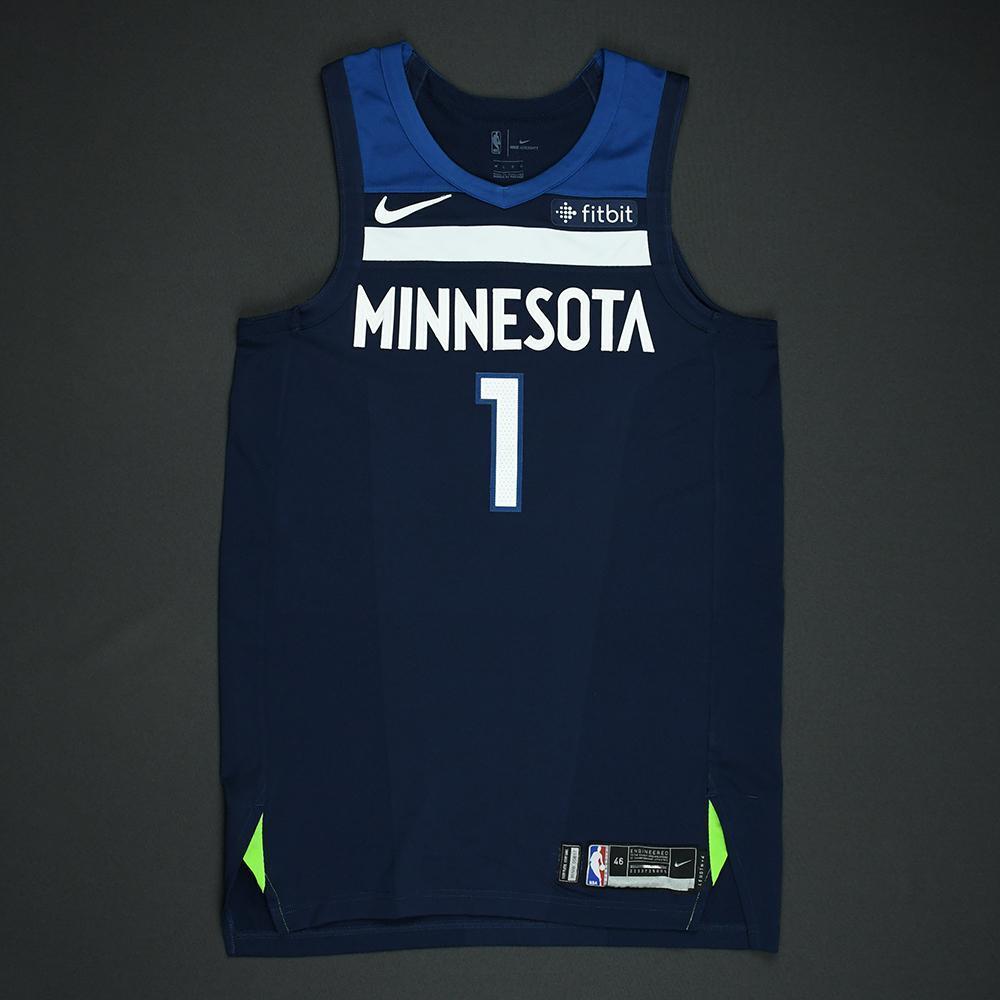 Tyus Jones - Minnesota Timberwolves - 2018 NBA Playoffs Game-Worn Jersey - Dressed, Did Not Play