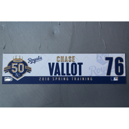 Photo of Spring Training Locker Nameplate: Chase Vallot