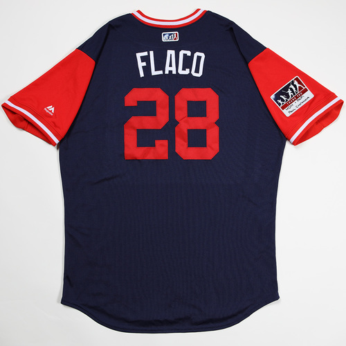 "Photo of JD ""Flaco"" Martinez Boston Red Sox Game-Used 2018 Players' Weekend Jersey"