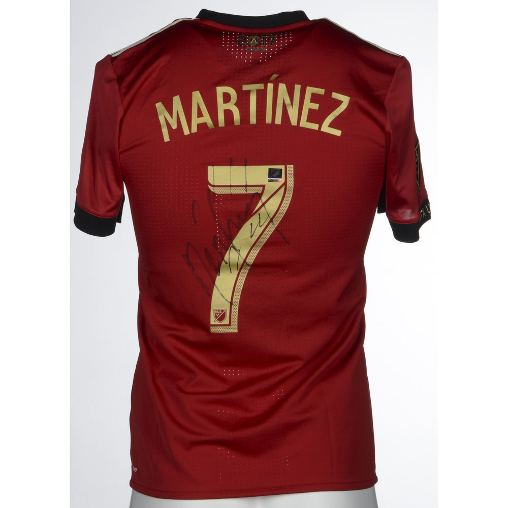 d49e6c1e385 Josef Martinez Atlanta United Match-Worn, Autographed Commemorative 2018  Kick Childhood Cancer jersey