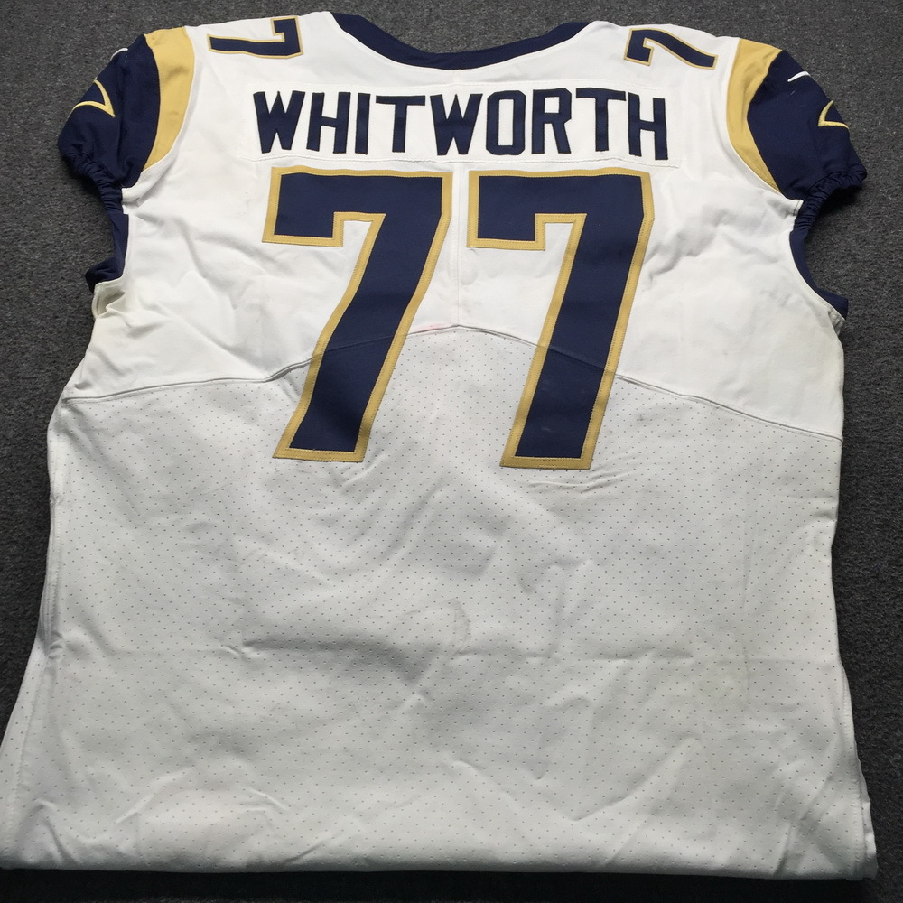 newest e2839 25e3a NFL Auction | Crucial Catch - Rams Andrew Whitworth Game ...