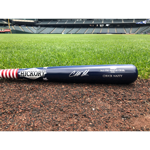 Photo of Colorado Rockies Autographed Charlie Blackmon Replica 2017 Home Run Derby Baseball Bat