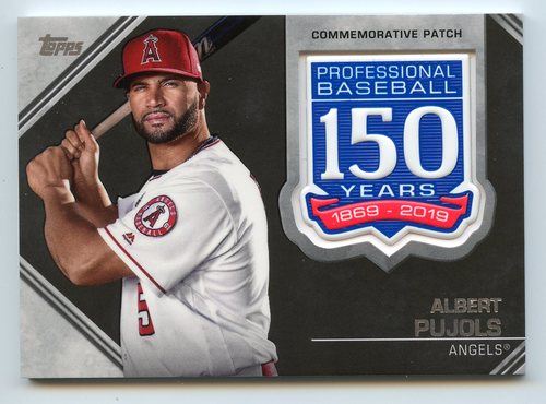 Photo of 2019 Topps 150th Anniversary Manufactured Patches #AMPAP Albert Pujols S2