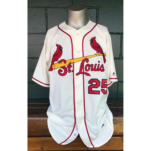 Cardinals Authentics: 2017 Game Used Dexter Fowler Home Ivory Jersey