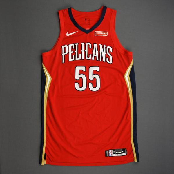 Image of E'Twaun Moore - New Orleans Pelicans - Christmas Day' 19 - Game-Worn Statement Edition Jersey