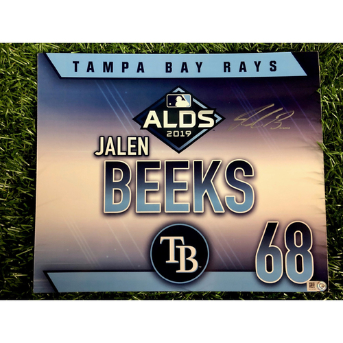 Photo of Team Issued ALDS Autographed Locker Tag: Jalen Beeks