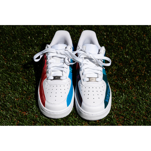 Photo of Promote the Vote: Custom Design Sneakers Theme: VOTE and Game-Used Baseball