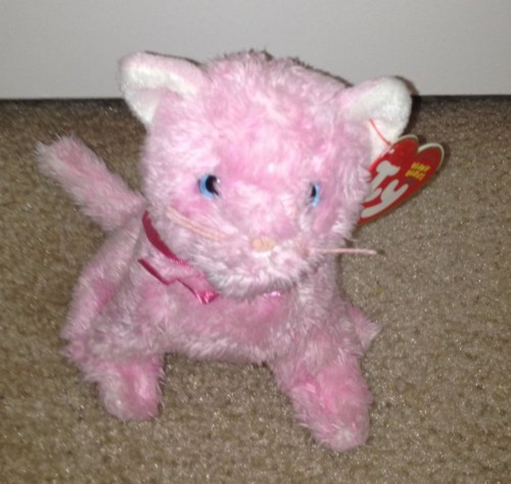 Photo of 1 X Ty Beanie Babies - Fleur the Pink Cat