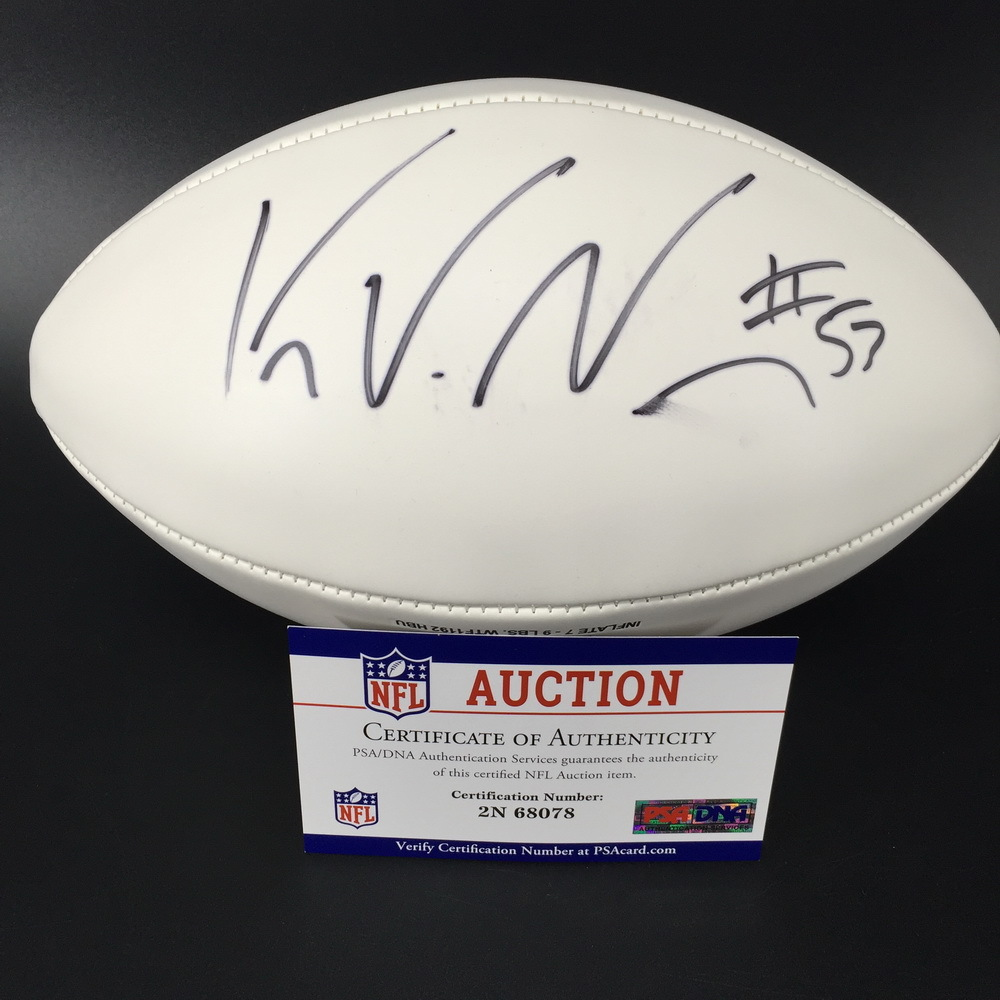 Patriots - Kyle Van Noy Signed Panel ball w/ Patriots Logo