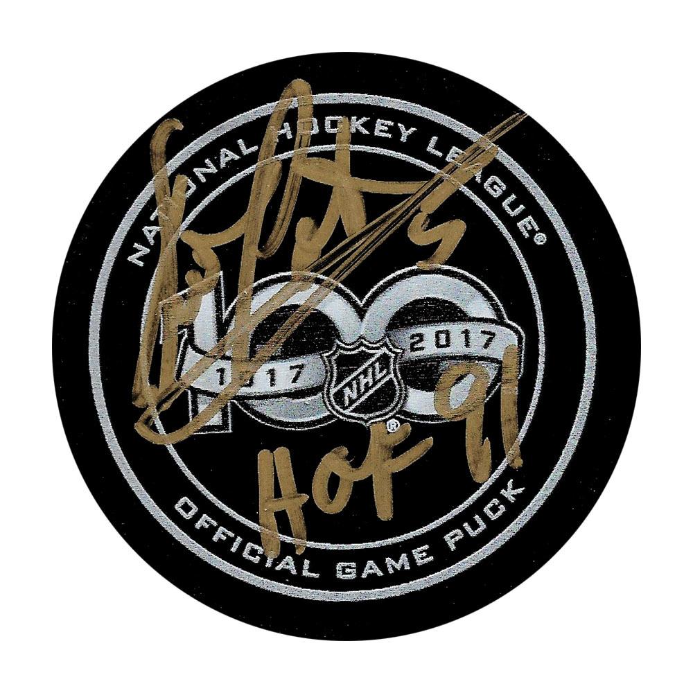 Denis Potvin Autographed NHL 100 Official Game Puck w/HOF 91 Inscription