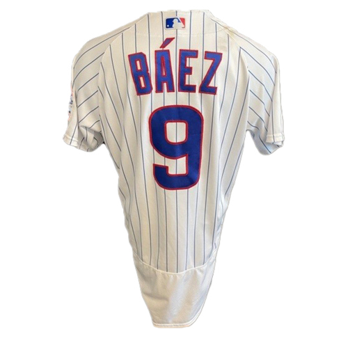 Photo of Javier Baez Game-Used Jersey -- Padres vs. Cubs -- 6/2/21 -- Features ALS Patch -- Size 42