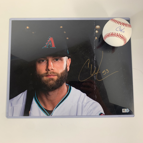 Photo of Christian Walker Autographed Baseball AND Photo