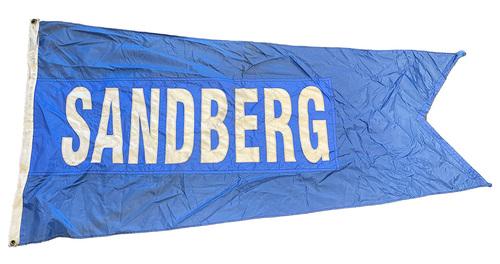 Photo of Wrigley Field Collection -- Rooftop Flag --  Ryne Sandberg
