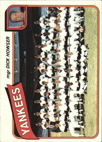 Photo of 1980 Topps #424 New York Yankees CL/Dick Howser MG