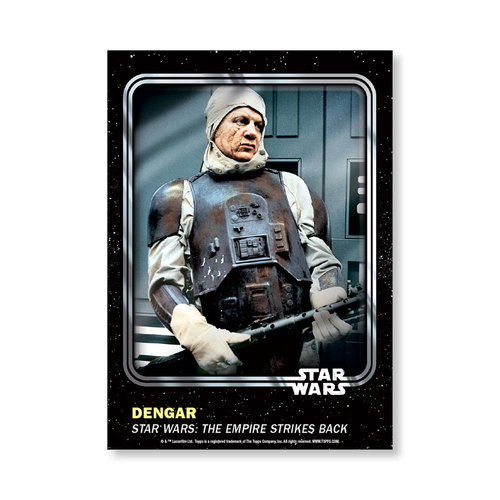Dengar 2016 Star Wars Card Trader Base Poster - # to 99