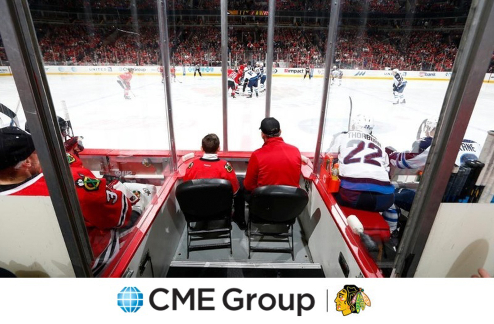 CME Group Bench Seats - Thurs., Sept. 21 @ 7:30 p.m. Chicago Blackhawks vs. Detroit Red Wings