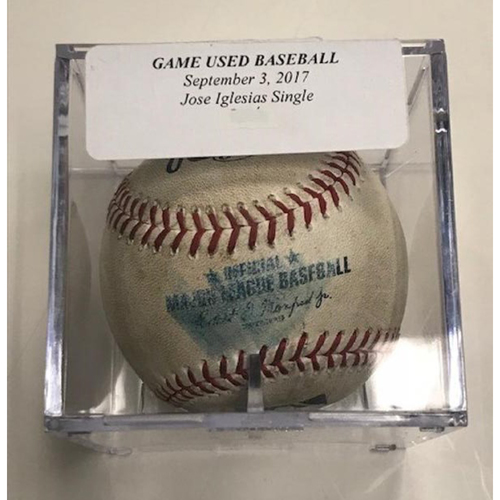 Photo of Game-Used Baseball: Jose Iglesias Single
