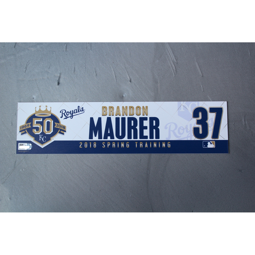 Photo of Spring Training Locker Nameplate: Brandon Maurer