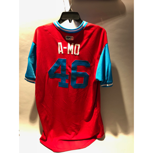 "Photo of Philadelphia Phillies 2018 Little League Classic Game-Used Jersey - Adam ""A-Mo"" Morgan - 8/19/2018"