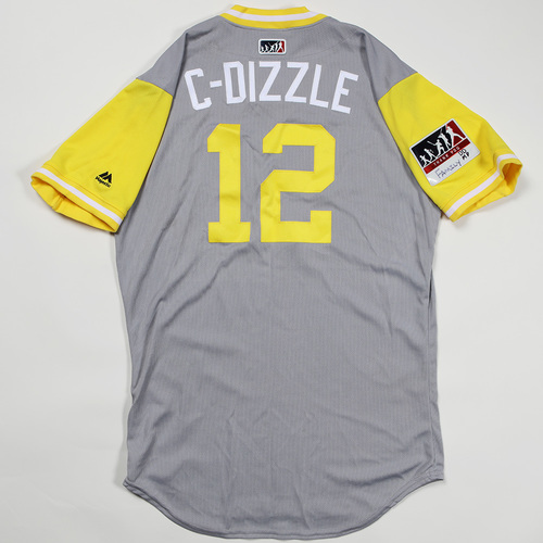 "Photo of Corey ""C-Dizzle"" Dickerson Pittsburgh Pirates Game-Used Jersey 2018 Players' Weekend Jersey"