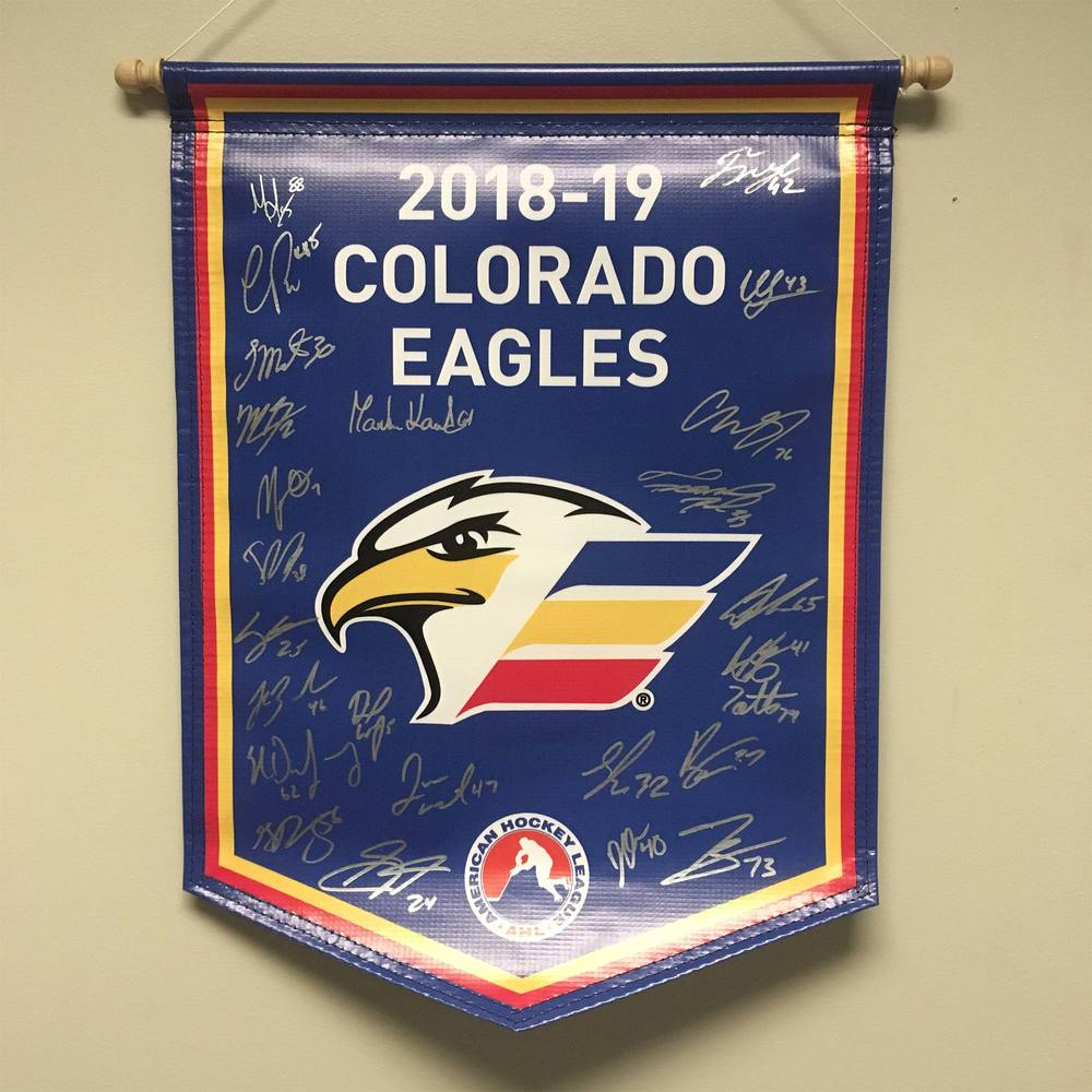 2018-19 Colorado Eagles Team-Signed Banner