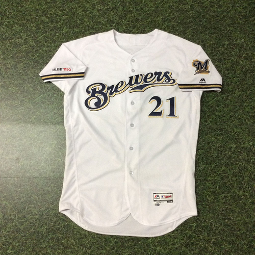 Photo of Travis Shaw 03/28/19 Game-Used Opening Day Jersey