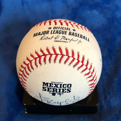Photo of UMPS CARE AUCTION: 2018 Mexico Series Crew Signed Baseball