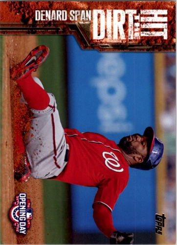 Photo of 2015 Topps Opening Day Hit the Dirt #HTD14 Denard Span