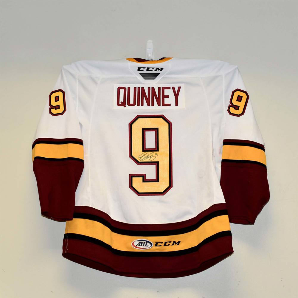 Chicago Wolves 2019 Calder Cup Finals Game 1 Jersey Worn and Signed by #9 Gage Quinney