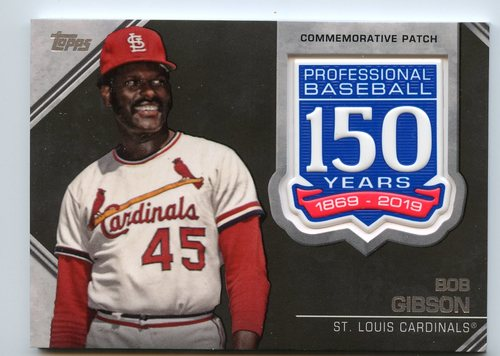 Photo of 2019 Topps 150th Anniversary Manufactured Patches #AMPBG Bob Gibson S2