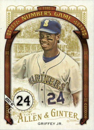 Photo of 2016 Topps Allen and Ginter The Numbers Game #NG39 Ken Griffey Jr.