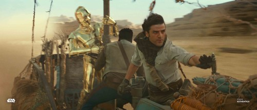 Poe Dameron, Finn and C-3PO