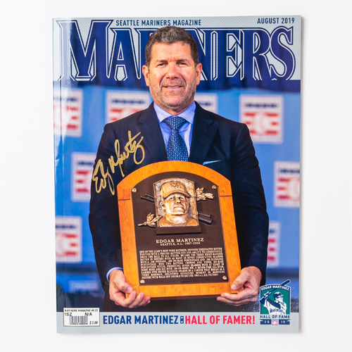 Photo of Mariners Care: Mariners Magazine Autographed by Edgar Martinez