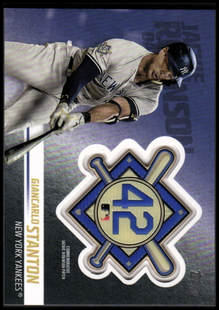 2018 Topps Update Jackie Robinson Commemorative Patches Giancarlo Stanton
