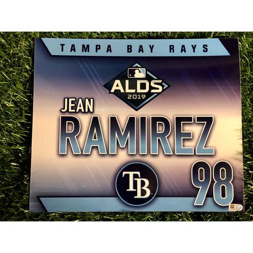 Photo of Team Issued ALDS Locker Tag: Jean Ramirez