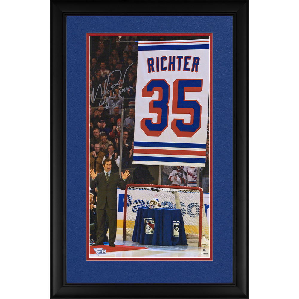 Mike Richter New York Rangers Framed Autographed 10