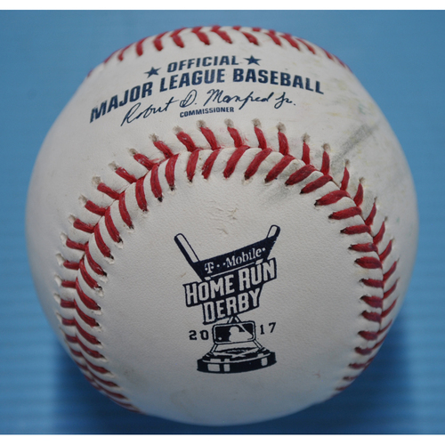 Photo of Game-Used Baseball - 2017 Home Run Derby - Pitcher - Aaron Judge - Round 2, Home Run 9