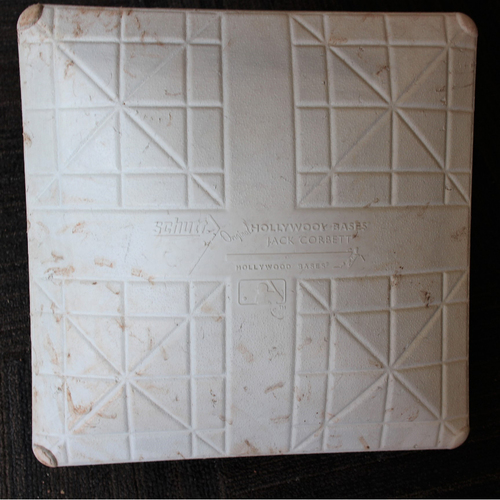 Photo of Game-Used Base - Tampa Bay Rays at Baltimore Orioles (8/2/2020) - 3rd Base - Innings 4.5-9