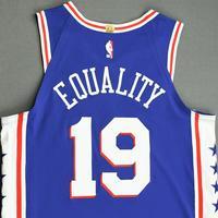 Raul Neto - Philadelphia 76ers - Game-Worn Icon Edition Jersey - 2019-20 NBA Season Restart with Social Justice Message