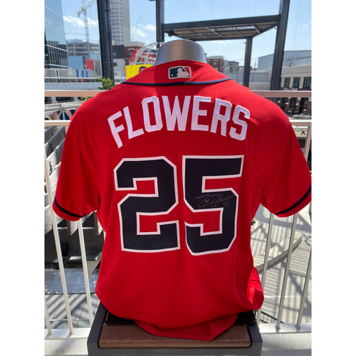 Photo of Tyler Flowers MLB Authenticated Autographed Game Used Los Bravos Jersey (Size 50) - Used 9/6/2019 vs. WAS