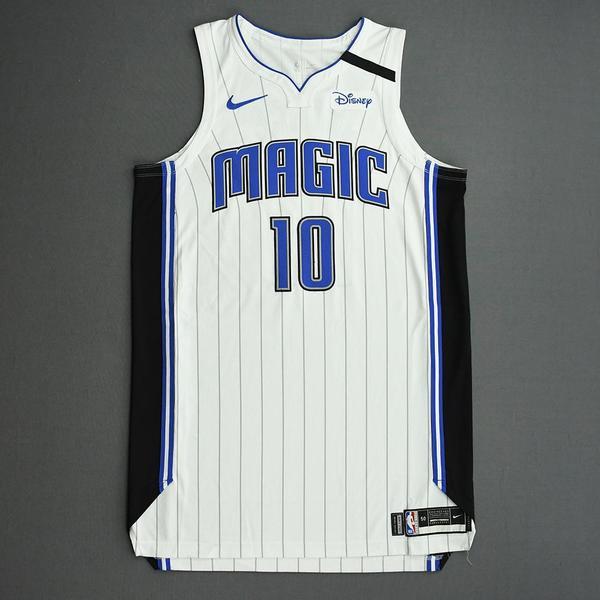 Image of Evan Fournier - Orlando Magic - Game-Worn Association Edition Jersey - Scored Team-High 24 Points - 1 of 2 - 2019-20 NBA Season Restart with Social...