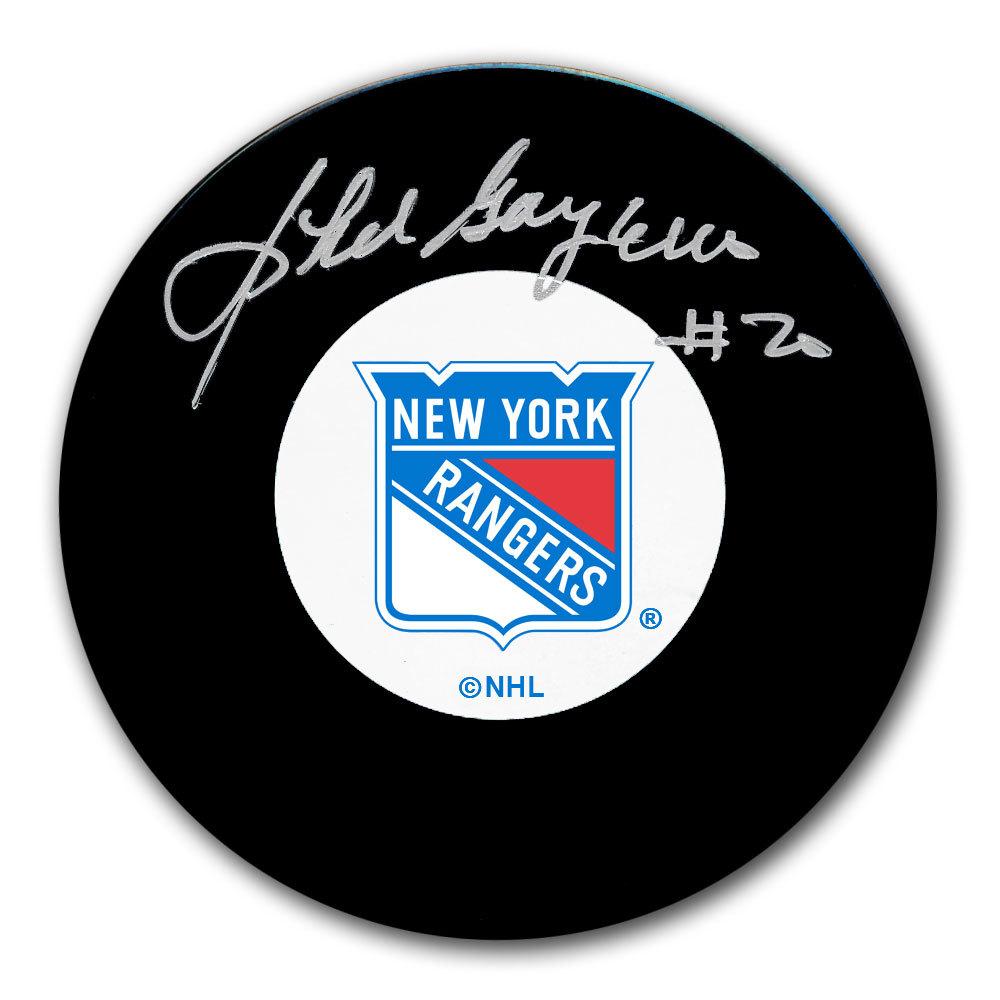 Phil Goyette New York Rangers Autographed Puck