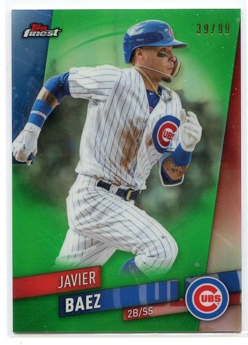 Photo of 2019 Finest Green Refractors #13 Javier Baez