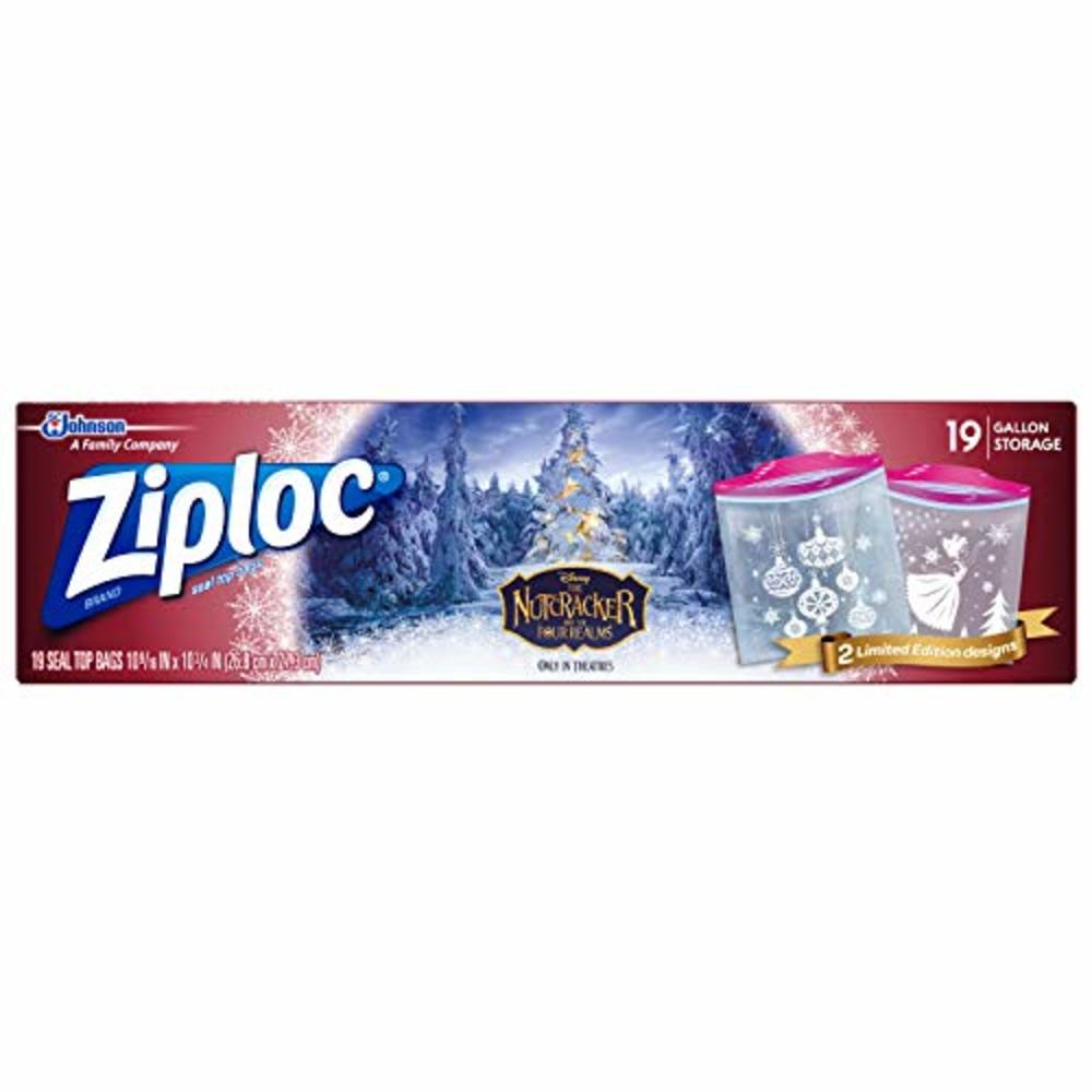 Photo of Ziploc Brand Storage Gallon Bag Featuring Designs from Disney?s The Nutcracker and The Four Realms, Limited Edition, 19 Count