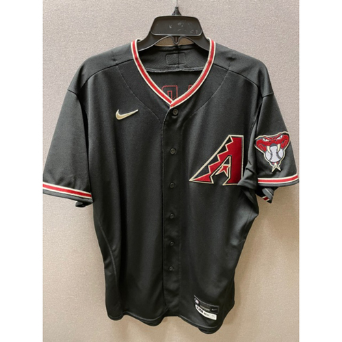 Photo of Taylor Clarke 2020 Team-Issued Black Alternate Jersey: Clarke finished the 2020 season going 3-0 with a 4.36 ERA